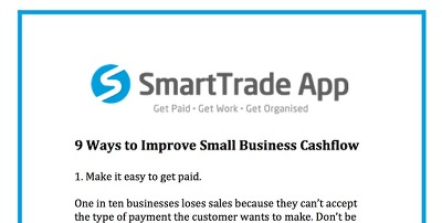 9 Ways to Improve Your Small Business Cashflow